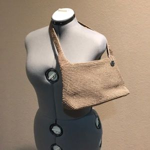 The Sac Taupe Classic Crochet Shoulder Bag